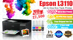 Epson EcoTank L3110 All-in-One Ink Tank Printer (3-years ABM Official Warranty)