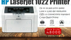 Branded HP Printer Laser jet 1022 (Black & White)