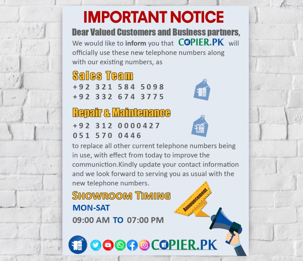 Copier.Pk Contact Now